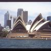Opera House and skyline from Sydney Harbor, Australia.