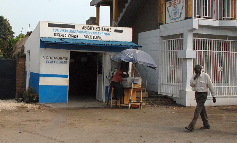 Currency exchange, western Rwanda.