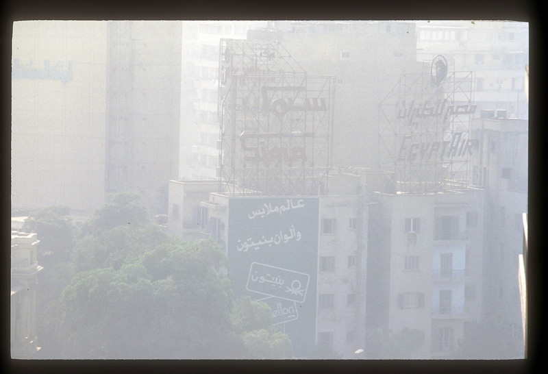 Cityscape, Cairo, Egypt, with pollution.