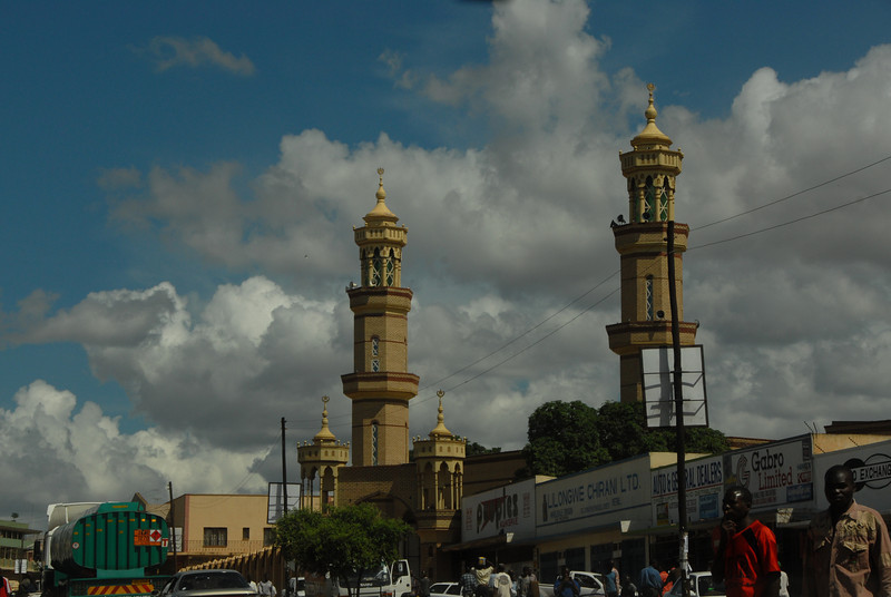Mosque, downtown Lilongwe, Malawi.