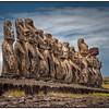 The Moai at Tongariki, Easter Island (Rapa Nui) - HDR.