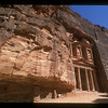 The Treasury building, ancient ruins of Petra, Jordan.