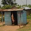 Butcher shop, rural Uganda.