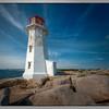The lighthouse at Peggy's Cove, Nova Scotia, Canada.