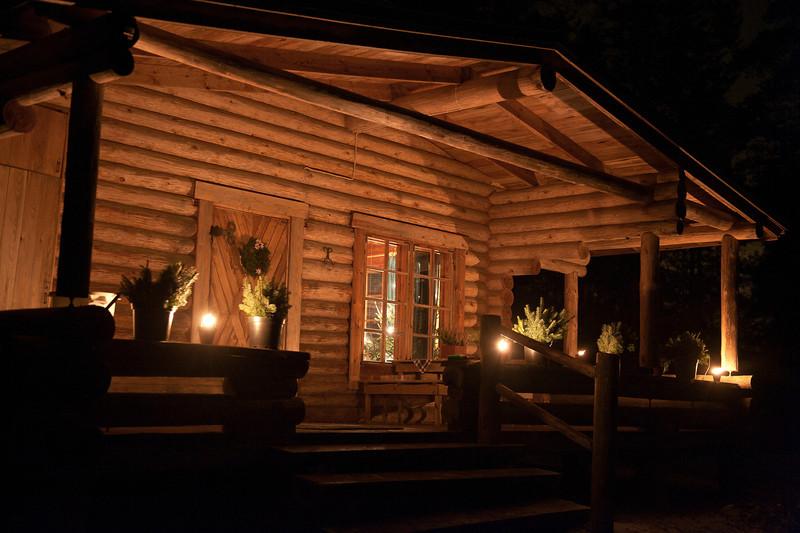 Cabin at Christmastime. Near Varkaus, Finland.