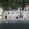 Buildings and dock, Adriatic coast, Montenegro.