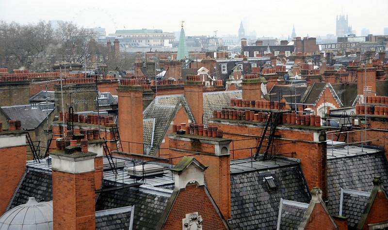 Rooftops, Mayfair, London, England.