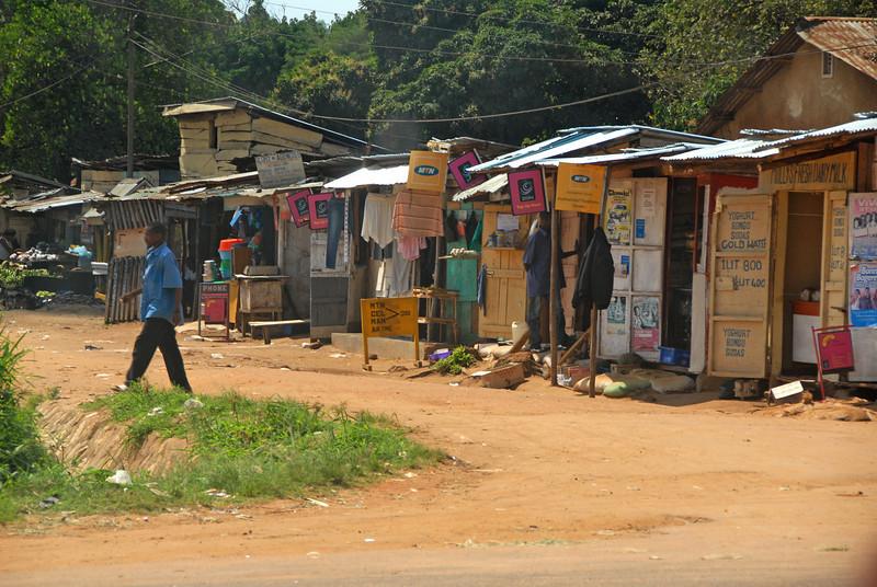 Kampala, Uganda roadside.