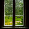 Window in old farmhouse, rural Finland.