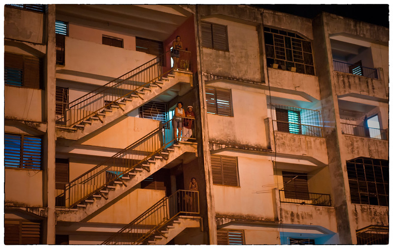 Neighborhoods at night. Havana, Cuba.