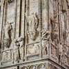 Detail of the Duomo, Milan, Italy.