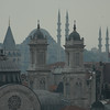 Detail of rooftops, Istanbul, Turkey.