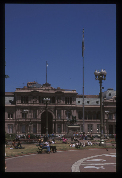 La Casa Rosada, the Pink House presidential residence, Buenos Aires, Argentina.