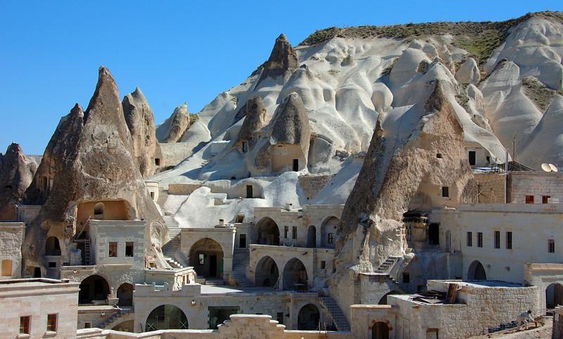 Modern cave dwellings, Goreme, Cappadocia.