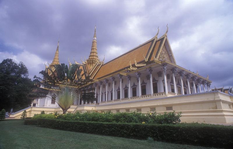 Royal compound and elephant, Phnom Penh, Cambodia.