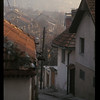 Street, rooftops and minaret, Sarajevo, Bosnia.