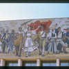 Detail of mural at National History Museum, Tirana, Albania.