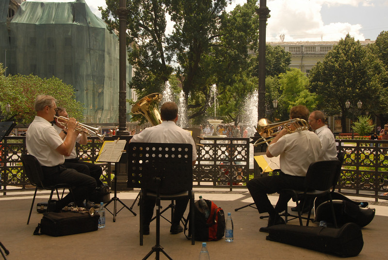 Concert at city park, Odessa, Ukraine.