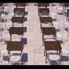 Outdoor dining terrace, Sveti Stefan, Montenegro.