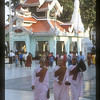 Monks at the Shwedagon Pagoda, Rangoon, Burma.