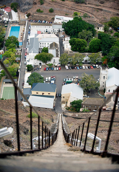 Jamestown, St. Helena Island, from the top of Jacob's ladder.