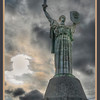 The Mother Motherland statue, the tallest statue in the world when it was finished, Kyiv, Ukraine - HDR.