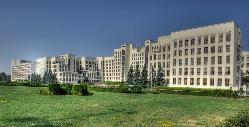 HDR: House of government, Minsk, Belarus.