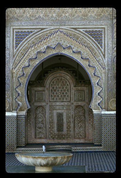 Courtyard, mosque in Fez, Morocco.