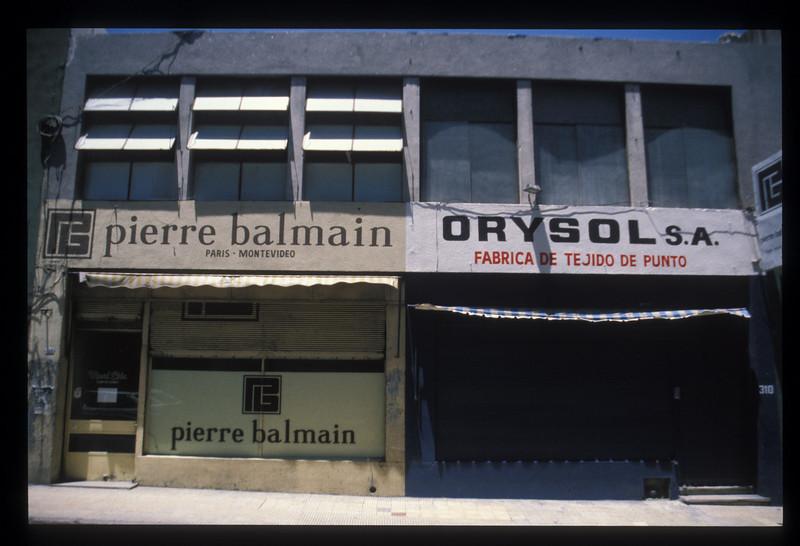 Storefronts, Montevideo, Uruguay.