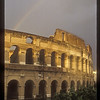 Rainbow over the Colosseum, Rome, Italy.