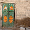 Door, deserted village near Izki, rural Oman.