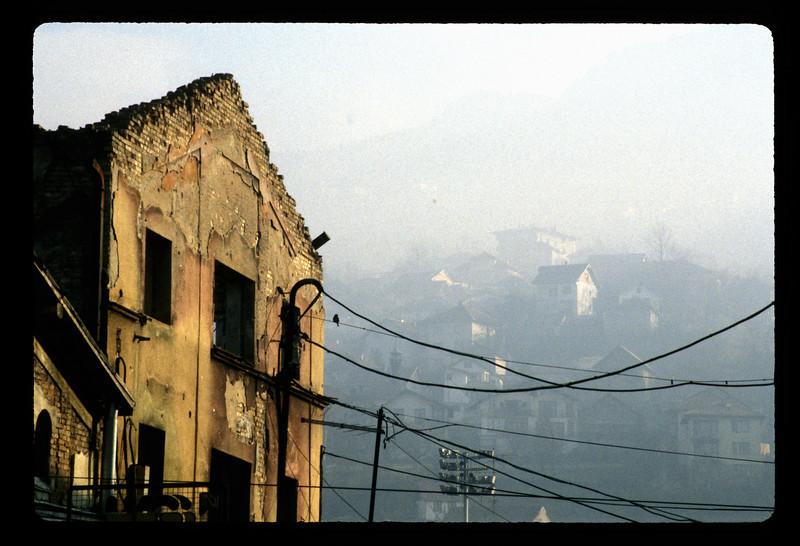 War damage, Sarajevo, Bosnia.