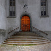 Church entrance, Chur, Switzerland.