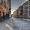 HDR: Early Saturday morning in old town Vilnius, Lithuania.