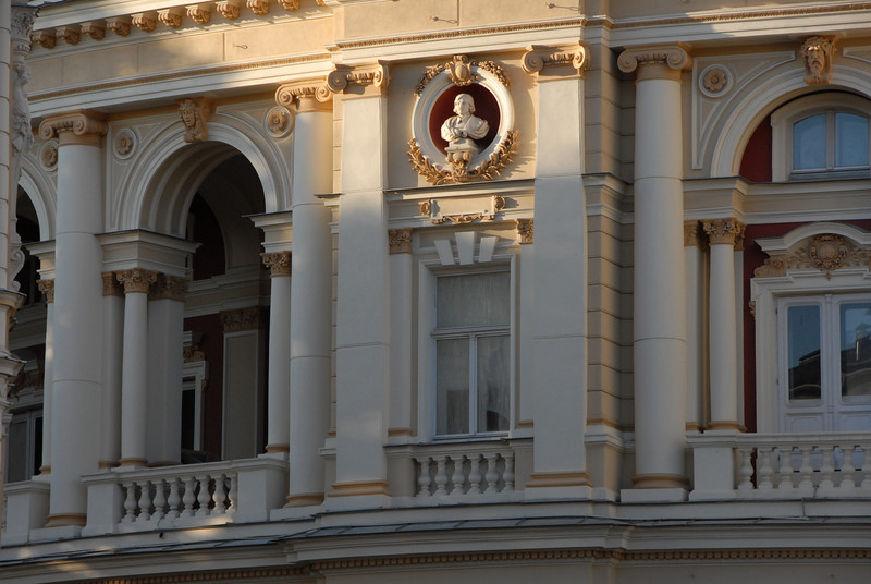 Detail of the Opera House, Odessa, Ukraine.