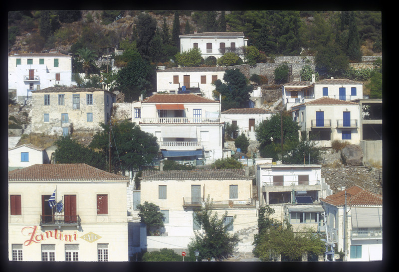 Buildings along the waterfront, Greek Isles.