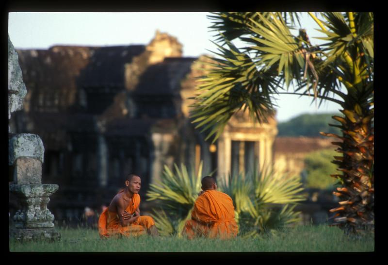 Monks at Angkor Wat, Cambodia.
