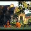 Monks at Angkor Wat, Cambodia.