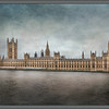 The British Parliament Building as an Oil Painting.