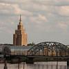 The Academy of Sciences building, Riga, Latvia.