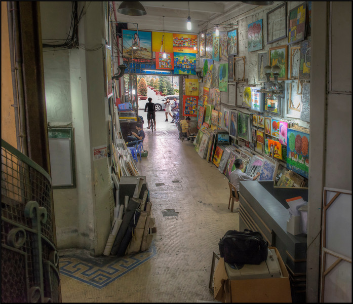 Art Gallery, Saigon, Vietnam.