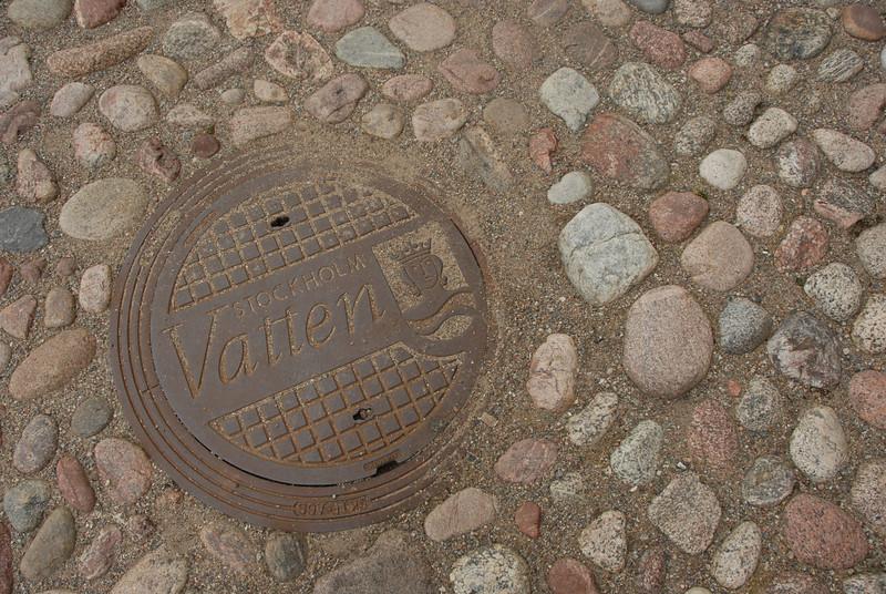 Cobbled street, Gamla Stan, Stockholm, Sweden.