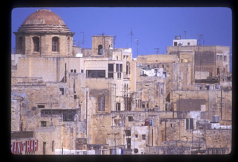 Rooftops, typical architecture, Valetta, Malta.