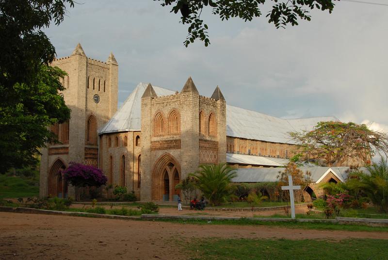 Anglican Likoma Cathedral, begun in 1903, Likoma Island, Lake Malawi.