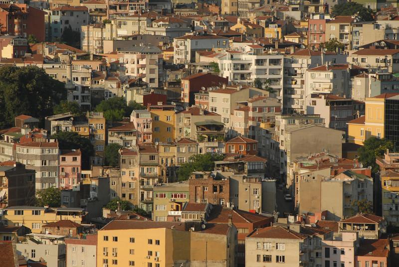 Detail of buildings, Istanbul, Turkey.