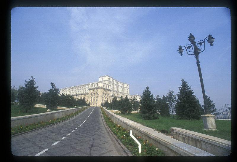 Palace built by Nicolae Ceausescu, begun in 1983, now serving as the Palace of the Parliament, Bucharest, Romania.