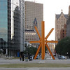 Beyond the Sunburst sculpture is Wisconsin Avenue and about a 1.5 miles to Marquette University (our alma mater).