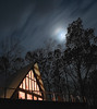 Full moon over private home