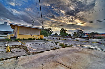 Abandoned parking lot on Dixie Highway in West Palm Beach, FL. Part of a series.