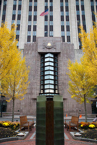New England Telephone Building in Boston's Post Office Square is an example of the art deco period of architecture.